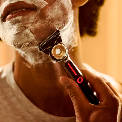 Heated Razor In Use